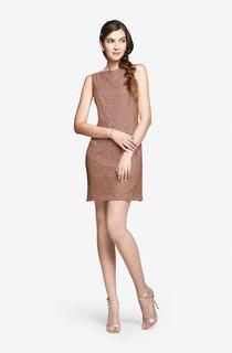Sleeveless Elegant Lace Short Dress With V Back