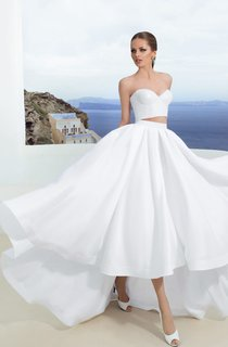 Two Pieces High Low Sweetheart Sleeveless Simple Dress