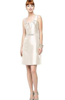 Sleeveless Stylish Dress With Scoop Neckline