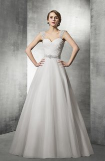 Sweetheart Tulle Ball Gown Wedding Dress With Removable Straps