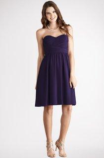 Short Lovely Sweetheart Chiffon Dress With Ruching
