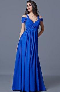 Sweetheart A-line Long Chiffon Dress With Bandage