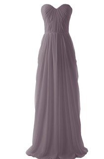 Strapless Full Length Gown With Pleated Bodice