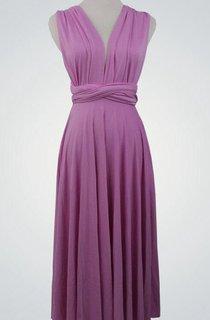 V Neck Sleeveless A-line Pleated Jersey Knee Length Dress With Sash