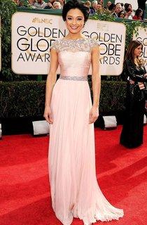 A-line Sleeveless High Neck Applique Pleats Floor-length Chiffon Dresses