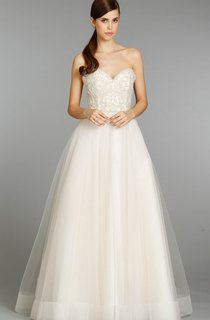 Angelic Beaded Embroidered Bodice Tulle Ball Gown
