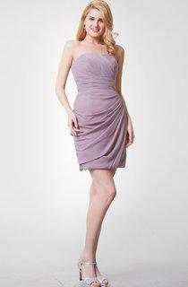Sweetheart Draped Short Chiffon Dress With Ruching