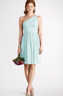 Chiffon A-Line Short One-Shoulder Strapless Dress