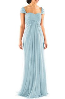 Queen Anne Ruched Empire Long Tulle Dress