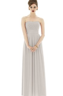 Strapless Empire Simple Chiffon Gown With Ruching