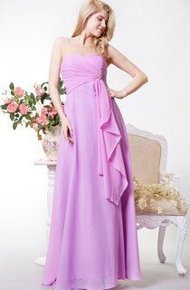 Sweetheart Chiffon A-line Long Gown Front Draping