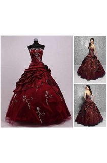 Ball Gown Tea-Length Off-The-Shoulder One-Shoulder Straps Beading Embroidery Straps Chiffon Tulle Sequins Satin Dress
