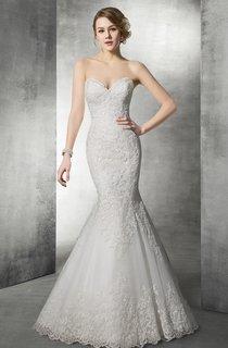Delicate Sweetheart Lace Mermaid Wedding Dress