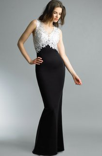 Mermaid Floor-length V-neck Sleeveless Satin Illusion Dress