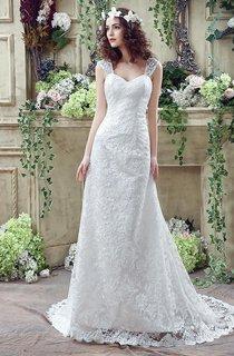 Elegant Lace Sweetheart A-line 2016 Wedding Dress Sweep Train Lace-up