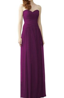 Sweetheart Chiffon Bridesmaid Dress with Ruching