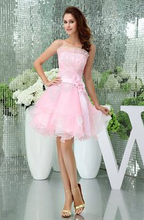 Sleeveless Short A-Line Flower and Dress With Appliques