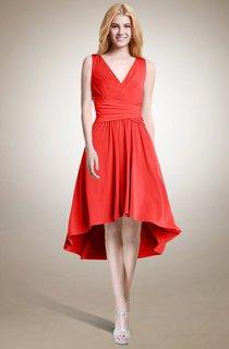 Sleeveless A-line High Low Dress