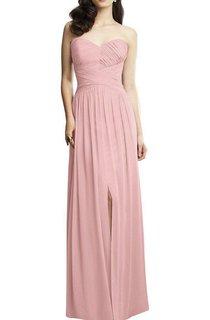 Sweetheart Chiffon Dress with Front Split