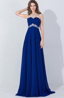 A-line Chiffon Long Dress With Beading Embellishment