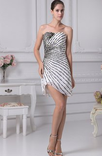 Sexy Short-Length Sweetheart Gown With Asymmetrical Column Beadings