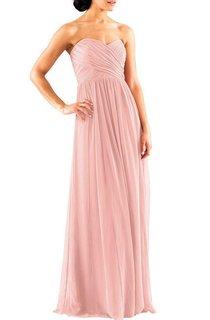 Criss-cross Long Chiffon Bridesmaid Dress with Ruching