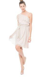 Ong-Shoulder A-Line Short Modern Dress With Ruffles