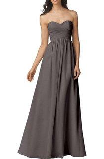 Strapless Criss-cross Chiffon Bridesmaid Dress