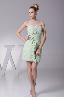 Sweetheart Mini Body-Fitting Corset Back and Dress With Draping