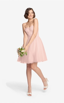 Tulle Short A-Line Dress With Lace Bodice