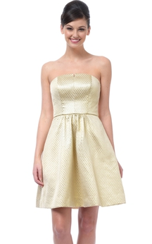 A-Line Amazing Strapless Dress With Pockets