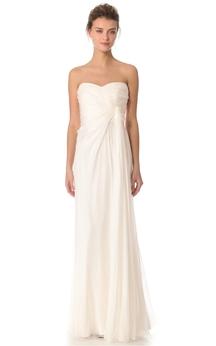 Long Sweetheart Sheath Chiffon Dress With Side Draping