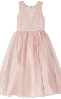 Sleeveless A-line Pleated Dress With Beadings