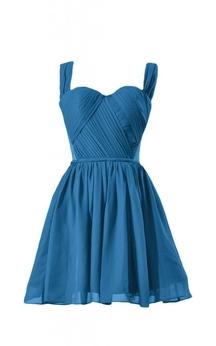 Sleeveless Ruched Bodice Short Pleated Chiffon Dress
