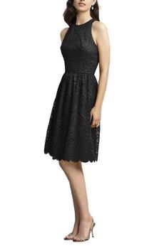 Sleeveless Short Lace Dress