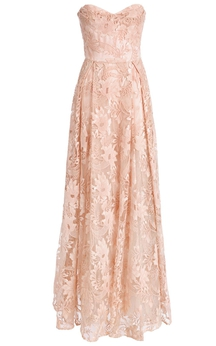 Delicate Lace Sweetheart A-line Prom Dress 2016 Sleeveless Floor-length