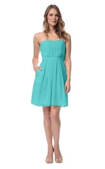 Strapless Sassy Short Dress With Keyhole Back