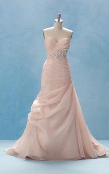Elegant Long Dress With Crisscross Ruching