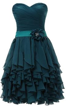 Sweetheart A-line Ruffled Mini Dress With Flower