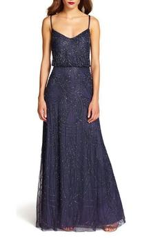 Art Deco Floor-length Bridesmaid Dress