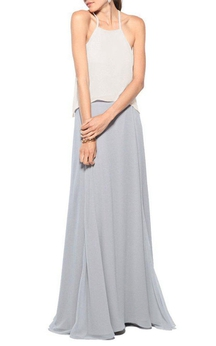 Spagetti Straps Floor-length Chiffon Bridesmaid Dress