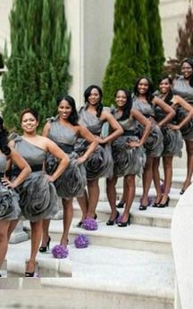 A-line Short One-shoulder Sleeveless Ruffles Tulle Organza Dress