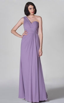 Graceful A-Line Dress With Has Pleatings