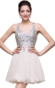 Lovely Crystal Sleeveless Homecoming Dress 2016 Short