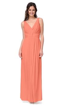 Empire V-Neck Chiffon Sleeveless Enchanting Long Dress