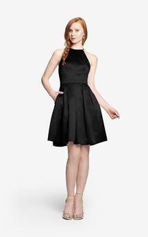 Short A-Line Unique Sleeveless Chiffon Dress