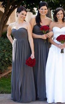 Sweetheart A-line Floor-length Chiffon Dress with Pleats