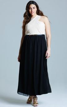 Chiffon Ankle-Length Unique A-Line Dress