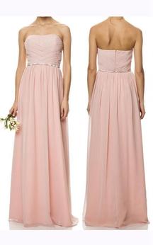 A-line Floor-length Sweetheart Sleeveless Zipper Chiffon Dress