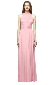 Sleeveless Chiffon Unique Dress With Ruching